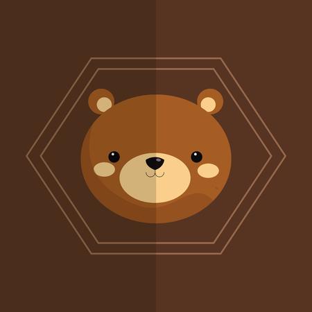 forest conservation: brown bear icon image vector illustration design