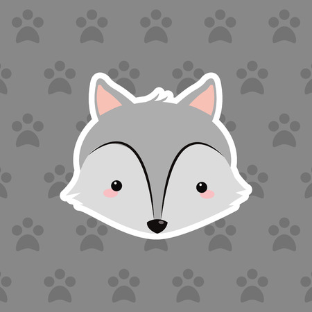 wolf over background image vector illustration design
