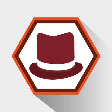 vintage theme: Hat icon. Hipster style fashion and vintage theme. Colorful design. Vector illustration