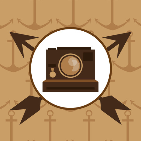 vintage theme: Camera icon. Hipster style fashion and vintage theme. Colorful design. Vector illustration
