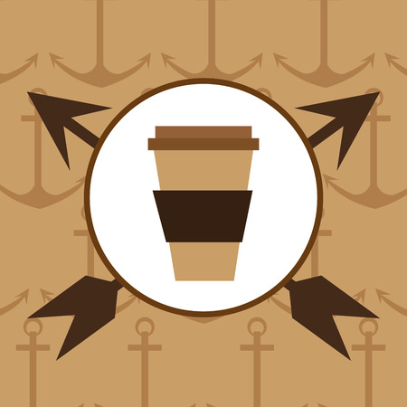 vintage theme: Coffee mug icon. Hipster style fashion and vintage theme. Colorful design. Vector illustration