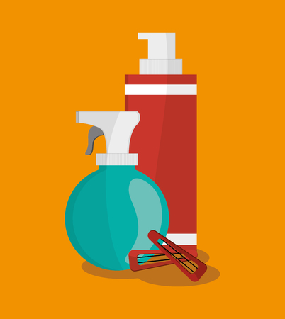 Splash and bottle icon. Hair salon and barber shop tools theme. Colorful design. Vector illustration