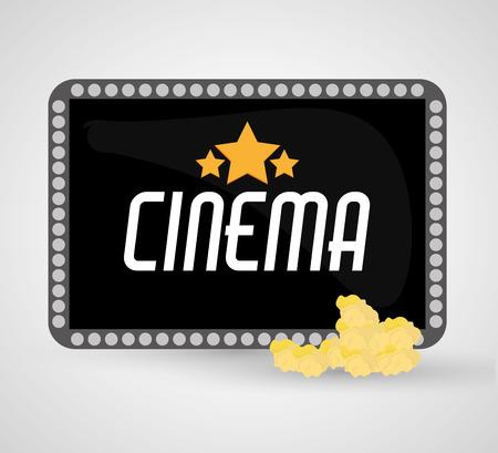 cinema viewing: Board icon. Cinema movie video film and entertainment theme. Colorful design. Vector illustration