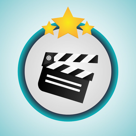 cinema viewing: Clapboard icon. Cinema movie video film and entertainment theme. Colorful design. Vector illustration Illustration