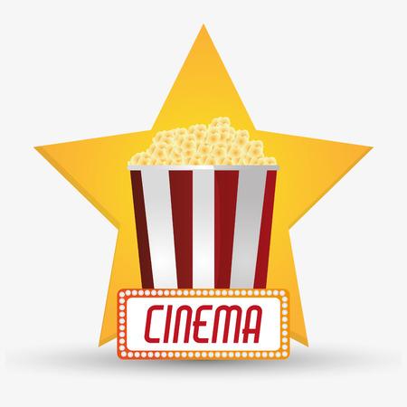 pop corn: Pop corn icon. Cinema movie video film and entertainment theme. Colorful design. Vector illustration