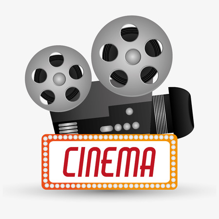 cinema viewing: Videocamera icon. Cinema movie video film and entertainment theme. Colorful design. Vector illustration