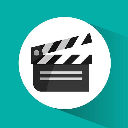 clapboard: Clapboard icon. Cinema movie video film and entertainment theme. Colorful design. Vector illustration Illustration