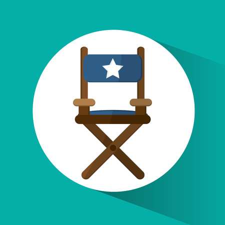 director's chair: Directors chair icon. Cinema movie video film and entertainment theme. Colorful design. Vector illustration Illustration
