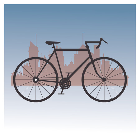 vitality: emblem of bike and cycling related icons image vector illustration