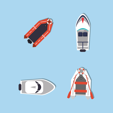 lifeboat: boat or ship with nautical sea life related icons image vector illustration design
