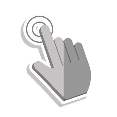 touch: Cursor touch icon. Web pointer mouse and click theme. Isolated design. Vector illustration