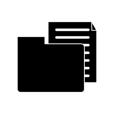 organize: Document and file con. Data archive storage and organize theme. Isolated design. Vector illustration