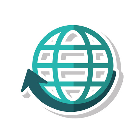 Sphere And Arrow Icon. Global Communication Intenet Connectivity ...