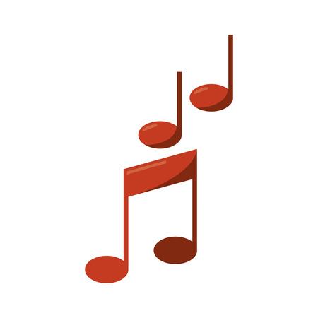 music pentagram: Musica icona della nota. pentagramma melodia del suono e il tema musicale. progettazione isolata. illustrazione di vettore