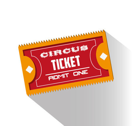event party festive: Ticket icon. Carnival festival fair circus and celebration theme. Colorful design. Vector illustration
