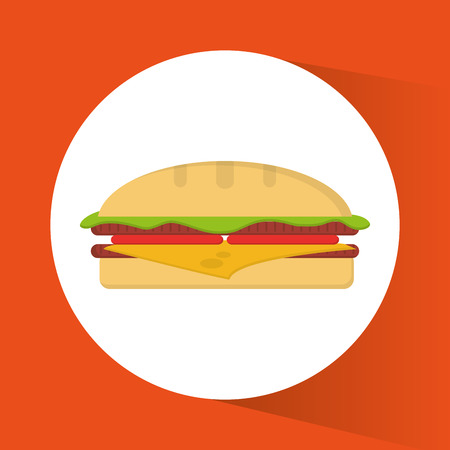 breakfast sandwich: Sandwich icon. Breakfast fresh product and market theme. Colorful design. Vector illustration
