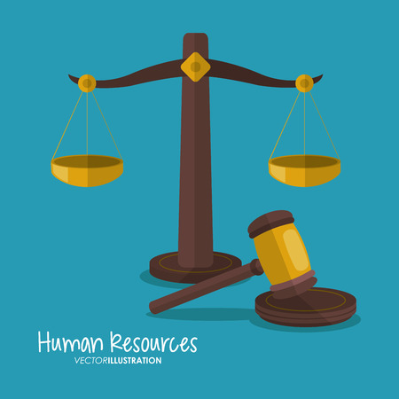 judicial: Balance and hammer icon. Law justice legal and judgment theme. Colorful design. Vector illustration