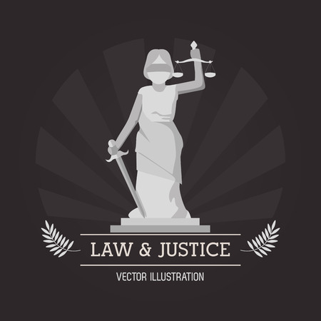 courtroom: Statue icon. Law justice legal and judgment theme. Colorful design. Vector illustration