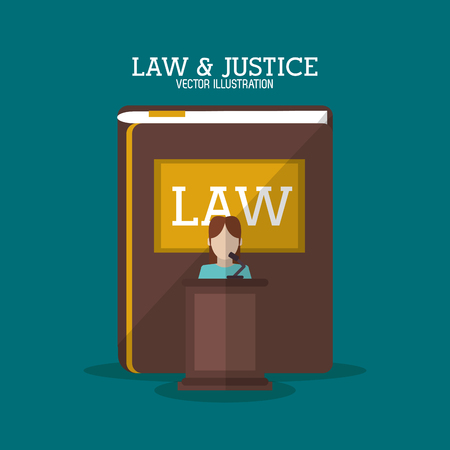 witness: Book and witness icon. Law justice legal and judgment theme. Colorful design. Vector illustration Illustration