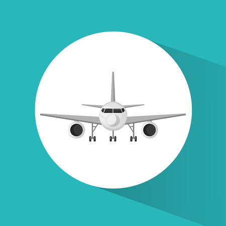 Airplane icon. Airport travel trip vacation and tourism theme. Colorful design. Vector illustration Illustration