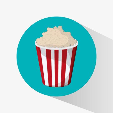 pop corn: Pop corn icon. Fast food menu and market theme. Colorful design. Vector illustration