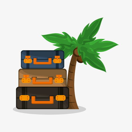 recreational: Baggage icon. travel trip vacation and tourism theme. Colorful design. Vector illustration