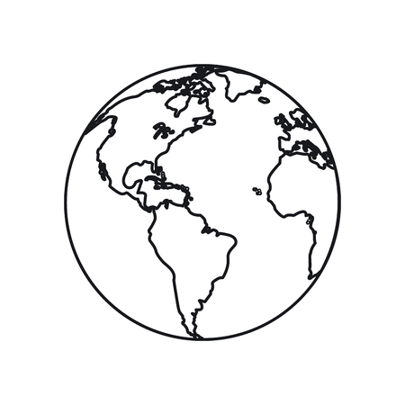 environment geography: Planet sphere icon. Earth world and globe theme. Isolated design. Vector illustration Illustration