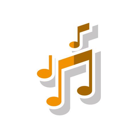 music pentagram: Musica icona della nota. la melodia del suono e il tema pentagramma. progettazione isolata. illustrazione di vettore