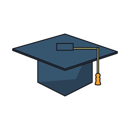 finishing school: Graduation cap icon. University school and education theme. Isolated design. Vector illustration Illustration
