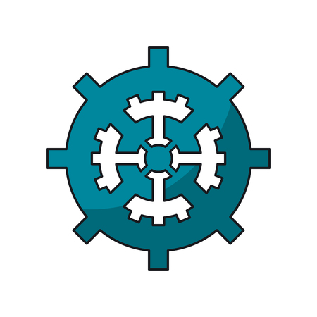 machine part: Gear icon. Machine part cog and circle theme. Isolated design. Vector illustration