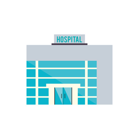 biomedical: Hospital building icon. Medical and health care theme. Isolated design. Vector illustration Illustration