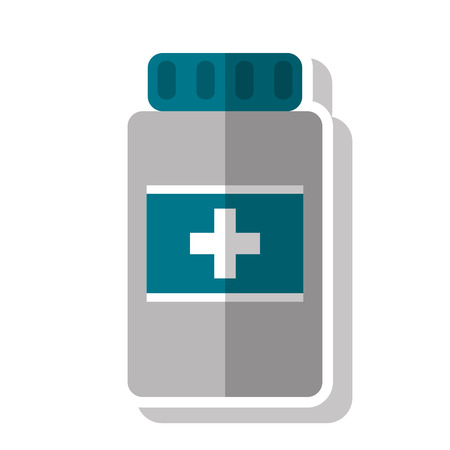 biomedical: Medicine jar icon. Medical health care and hospital theme. Isolated design. Vector illustration