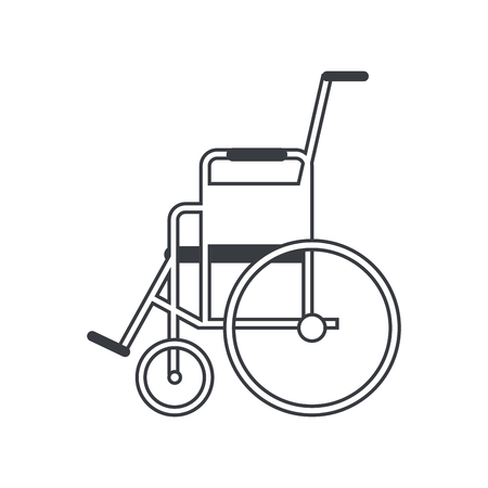 biomedical: Wheelchair icon. Medical health care and hospital theme. Isolated design. Vector illustration