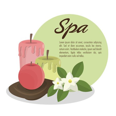 pampering: Candle icon. Spa center and healthy lifestyle theme. Colorful design. Vector illustration Illustration