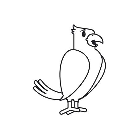 trusting: Bird cartoon icon. Pet animal domestic and care theme. Isolated design. Vector illustration Illustration