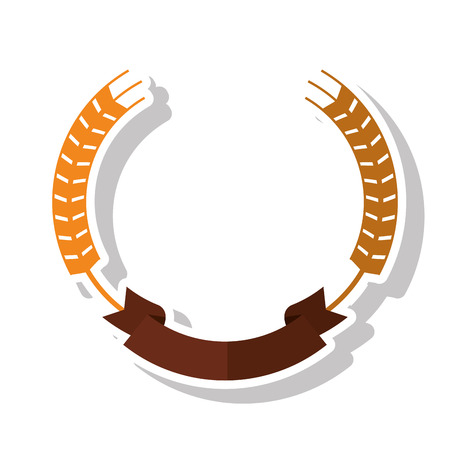 Wheat ear icon. Food grain agriculture ornament and decoration theme. Isolated design. Vector illustration