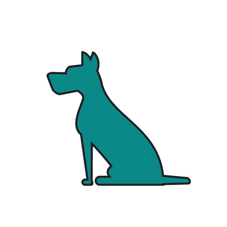 bonding: Dog silhouette icon. Pet animal domestic and care theme. Isolated design. Vector illustration