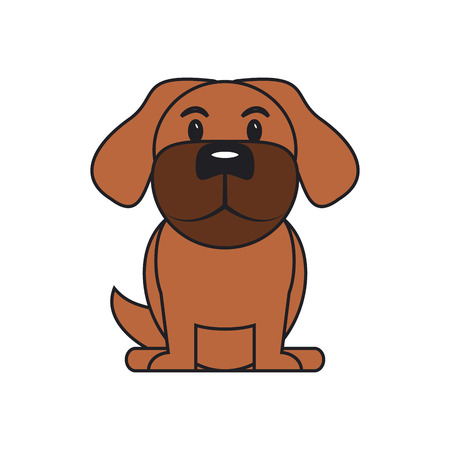trusting: Dog cartoon icon. Pet animal domestic and care theme. Isolated design. Vector illustration