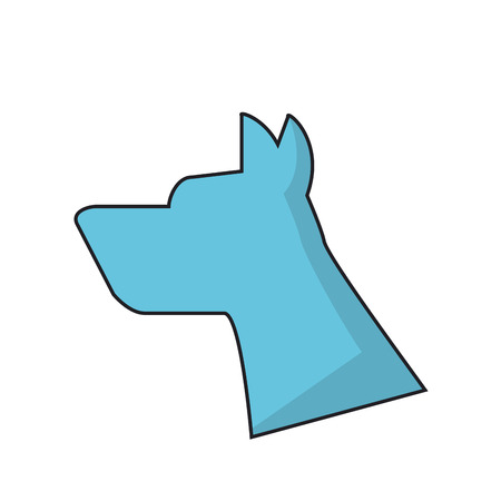 trusting: Dog silhouette icon. Pet animal domestic and care theme. Isolated design. Vector illustration