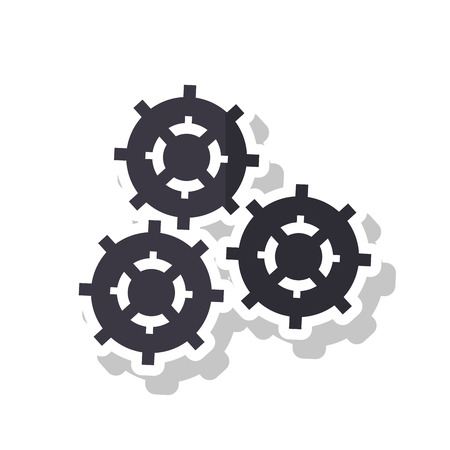 machine part: Gears icon. Cog machine part technology and industry theme. Isolated design. Vector illustration