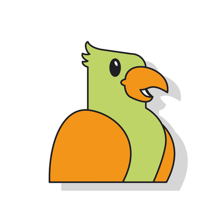 trusting: Bird icon. Pet animal domestic and care theme. Isolated design. Vector illustration