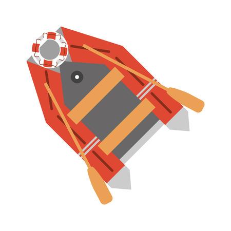 Rettungsboot Schiff-Symbol. Seetransport nautischen und maritimen Stil. Isolierte Design. Vektor-Illustration