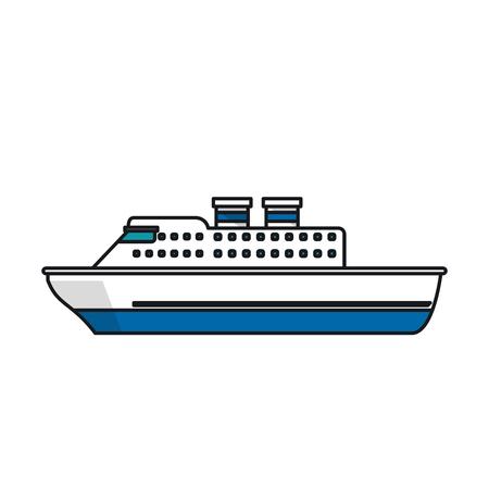 Kreuzfahrtschiff-Symbol. Seetransport nautischen und maritimen Stil. Isolierte Design. Vektor-Illustration