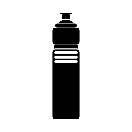 sporty: Water bottle icon. Fitness gym sport and bodybuilding theme. Isolated design. Vector illustration