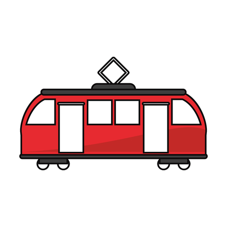 transporter: tram vehicle icon. transportation travel and trip theme. Isolated design. Vector illustration