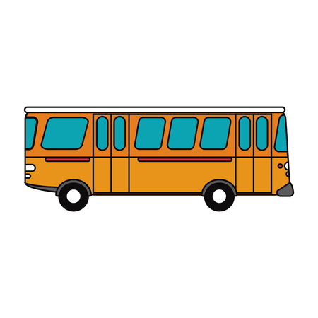 bus vehicle icon. transportation travel and trip theme. Isolated design. Vector illustration
