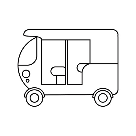 three wheeler: three wheeler vehicle icon. transportation travel and trip theme. Isolated design. Vector illustration