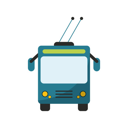 tram vehicle icon. transportation travel and trip theme. Isolated design. Vector illustration