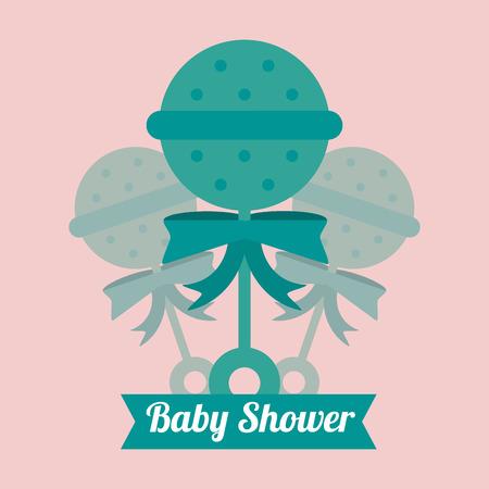 maraca: Maraca icon. Baby shower card and childhood theme. Colorful design. Vector illustration Illustration