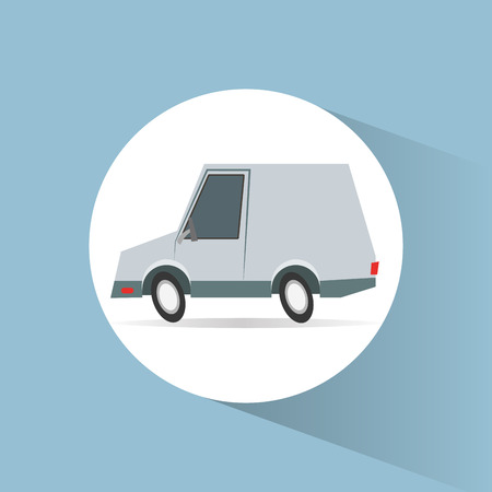 transporter: Car vehicle icon. transportation travel and trip theme. Colorful design. Vector illustration